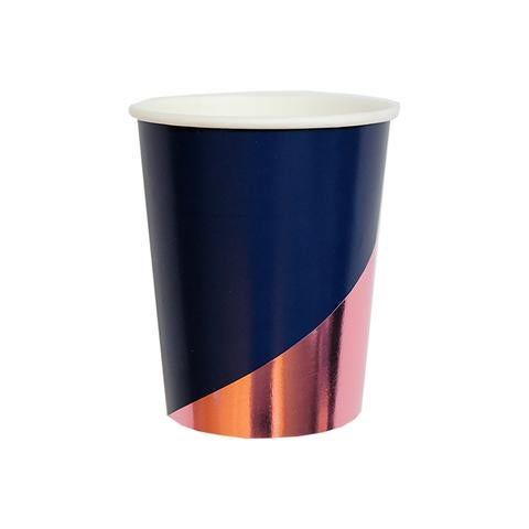 Image of Erika - Navy Colorblock Party Cups