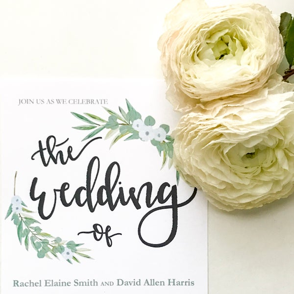 Image of The Wedding of - Invitation Suite