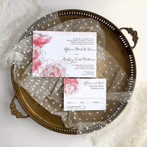 Image of Allison Rose Watercolor Invitation Suite