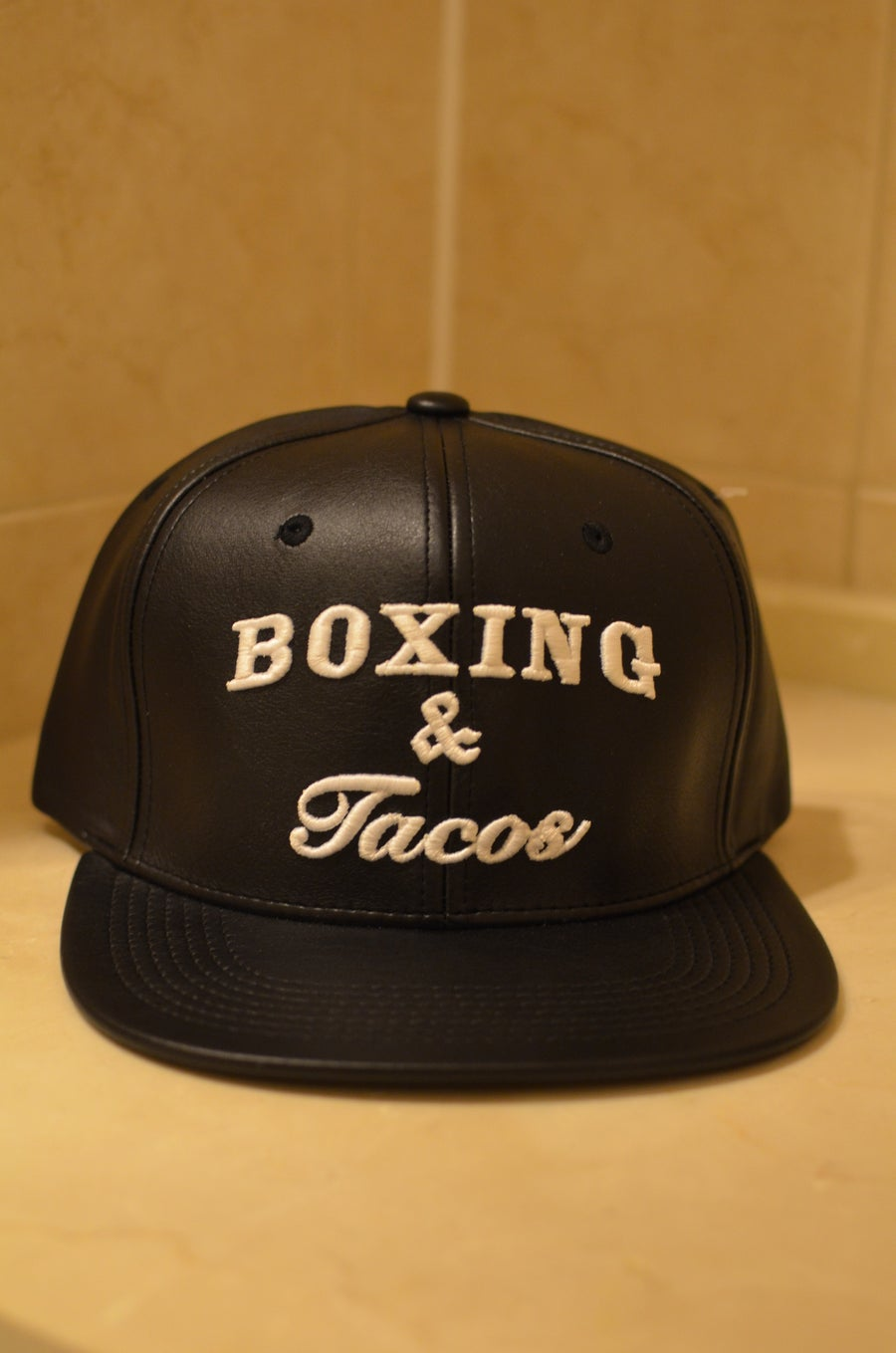Image of Boxing & Tacos Leather Snapbacks