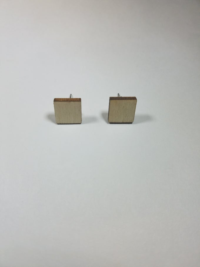 Image of Small Square Stud