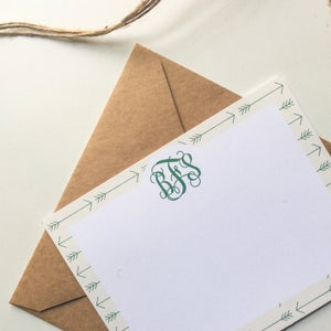 Image of Arrow Monogram Notecards