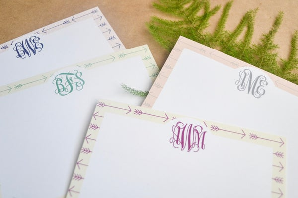 Image of Arrow Monogram Notecards