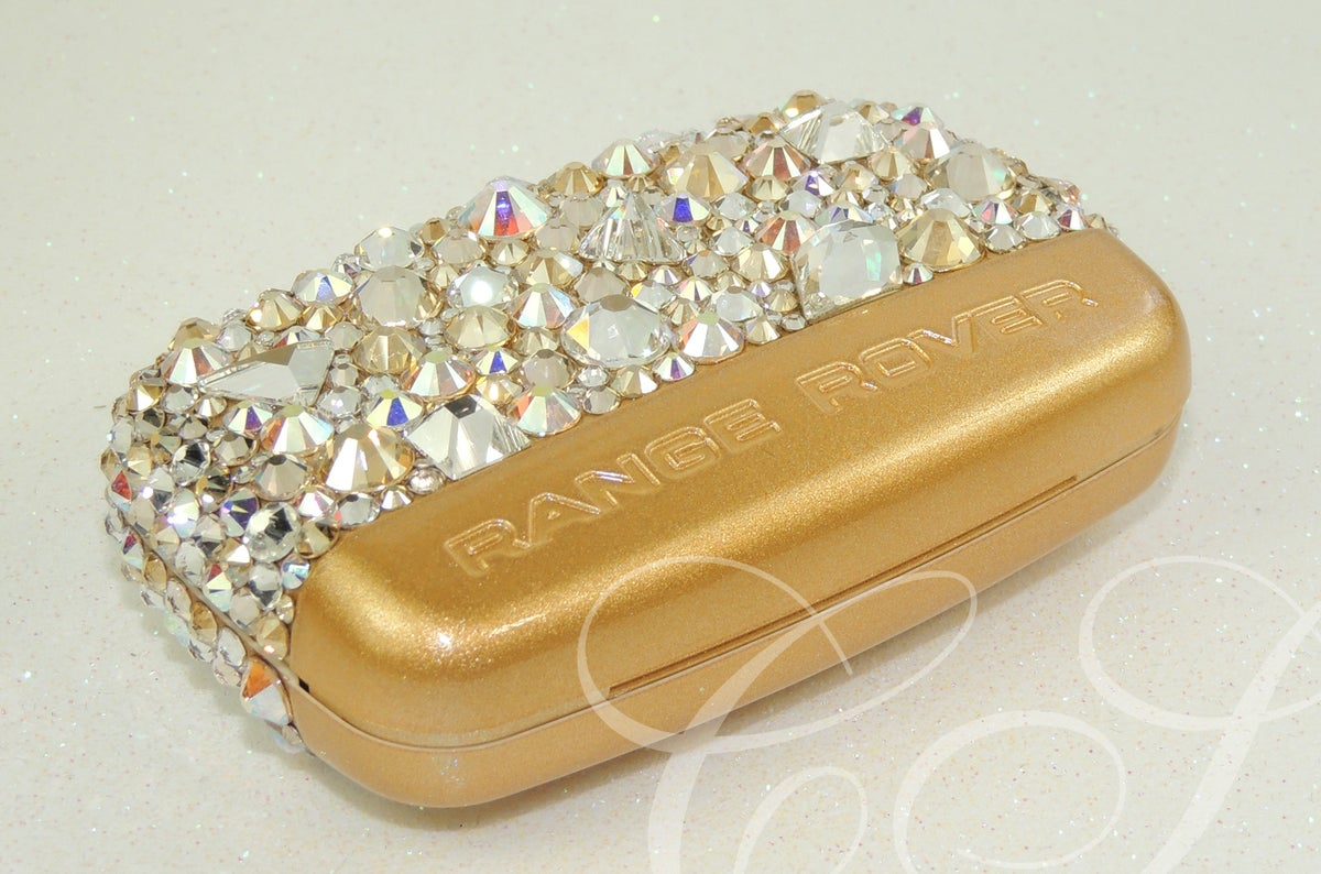 Image of RANGE ROVER KEY COVER 'Geometric gold' CRYSTALS BY SWAROVSKI®
