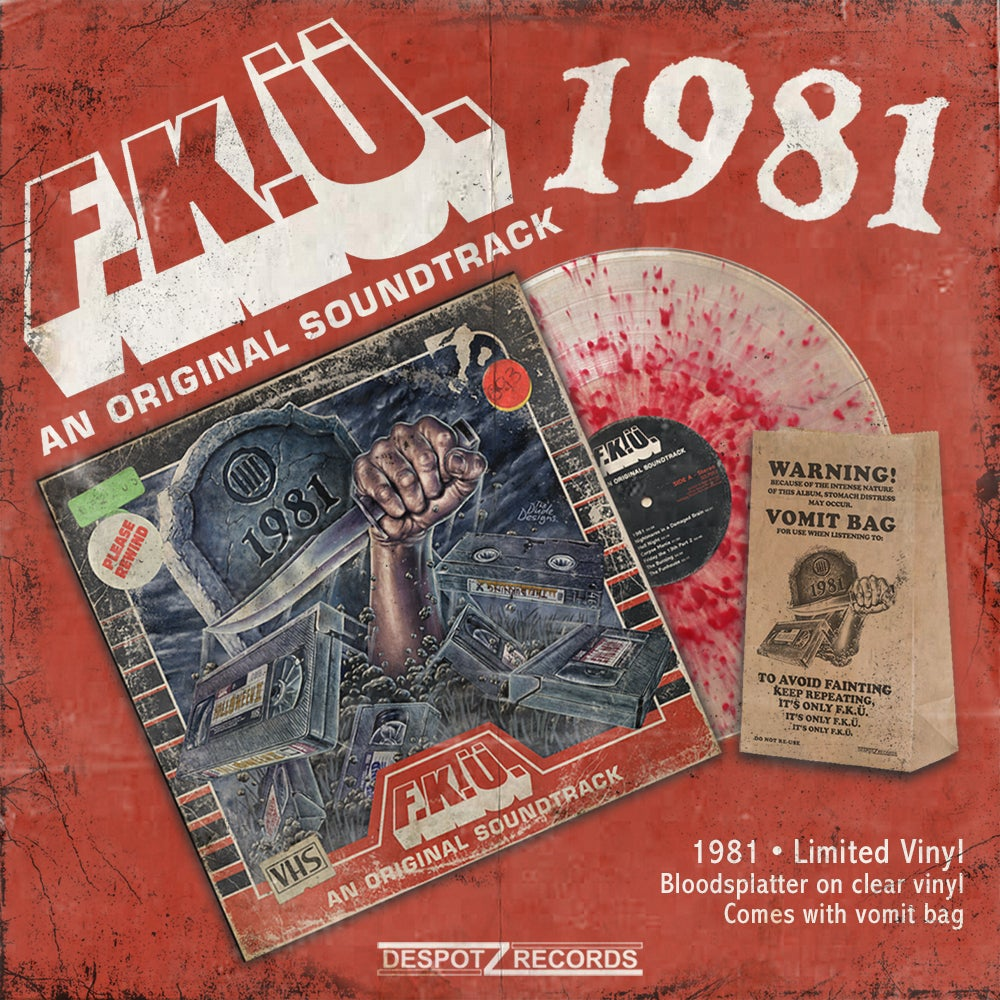 Image of F.K.Ü. - 1981 Vinyl (Limited Blood Splatter Vinyl+Vomit Bag)