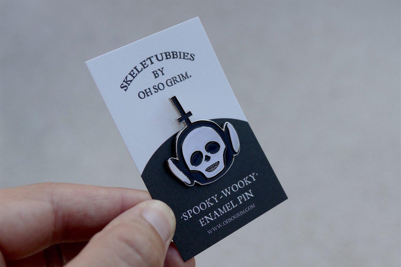 Image of Skeletubbies Enamel Pin
