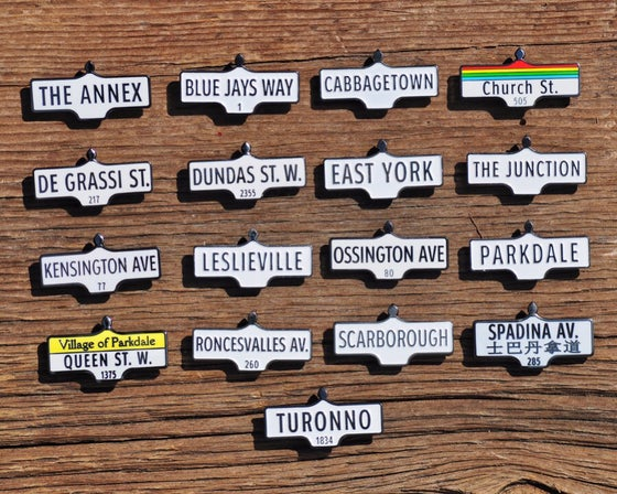 Image of Street Sign Lapel Pins