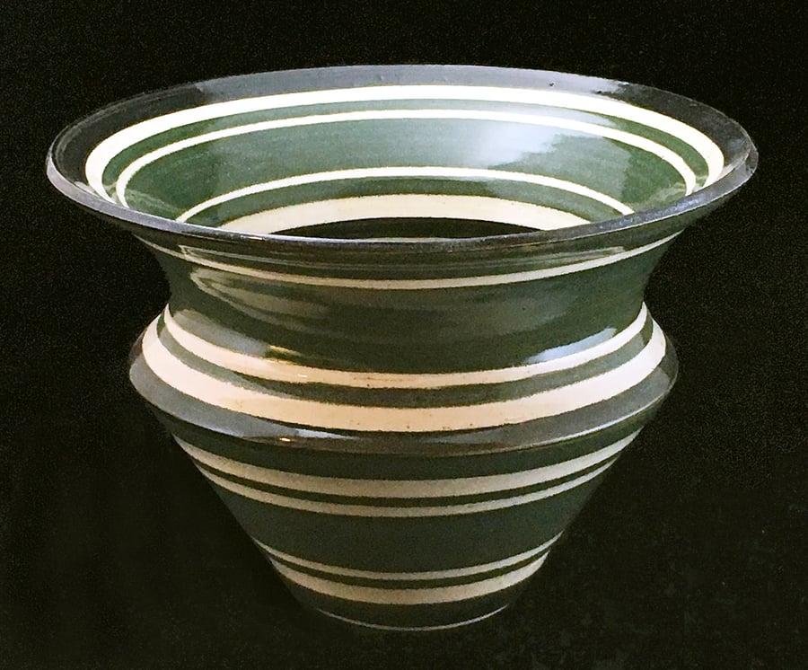 Image of Spiraling Green Vase