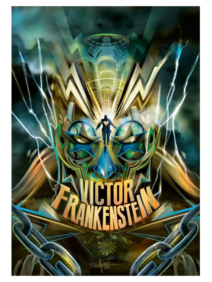 """Image of Victor Frankenstein - 18""""x24""""- Edition of 15 - 2017"""