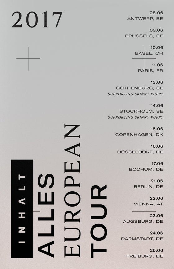 "Image of ALLES European Tour 12"" x 19"" 350gram Poster"