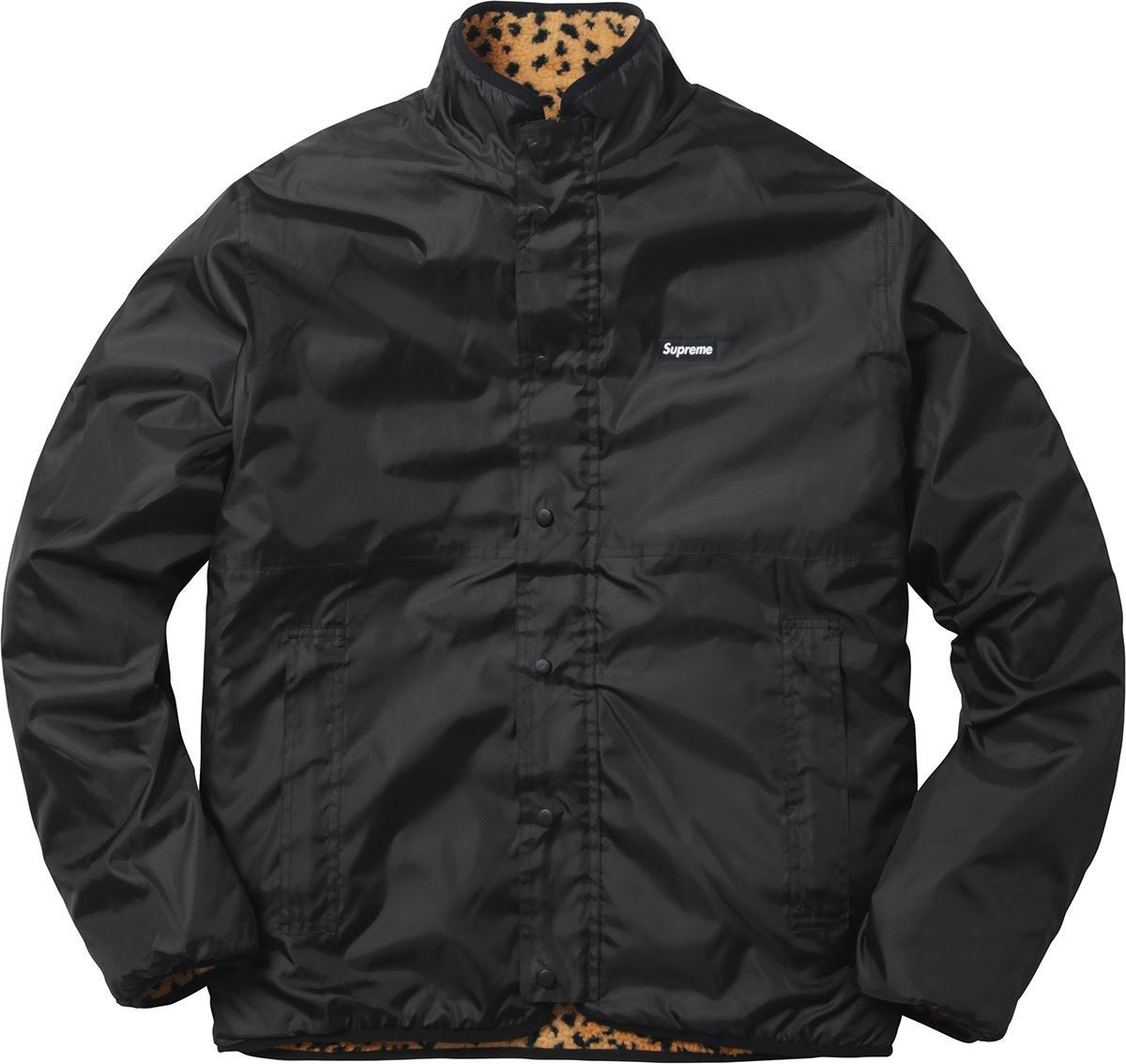 Image of Supreme leopard reversible jacket