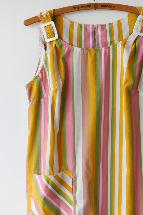 Image of SOLD Comfy Striped Dress With Buckle Detail