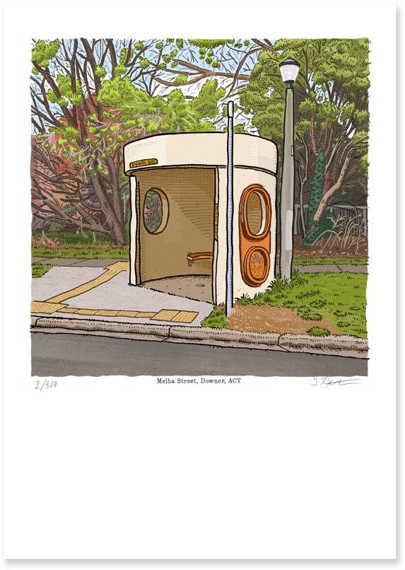 Image of Downer, Melba Street, digital print
