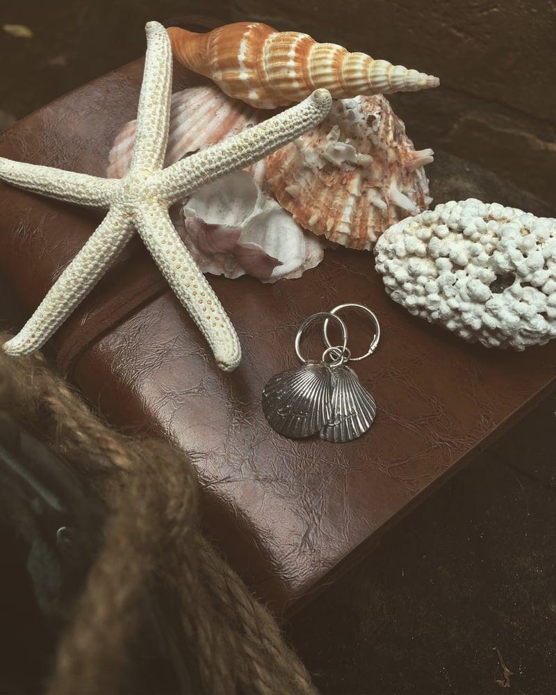 Image of ~ 'Syreni' ~ She is of The Sea ~ Mermaid Hoop Earrings