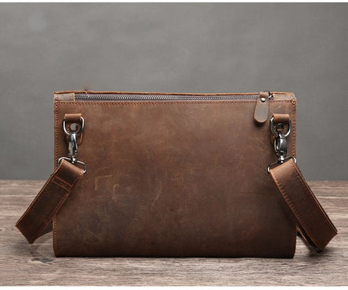 Image of Handmade Genuine Natural Leather Clutch, Messenger Bag, Shoulder Bag 9135