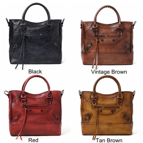 Image of Handmade Full Grain Leather Handbag, Designer Handbag, Women Handbag DT225