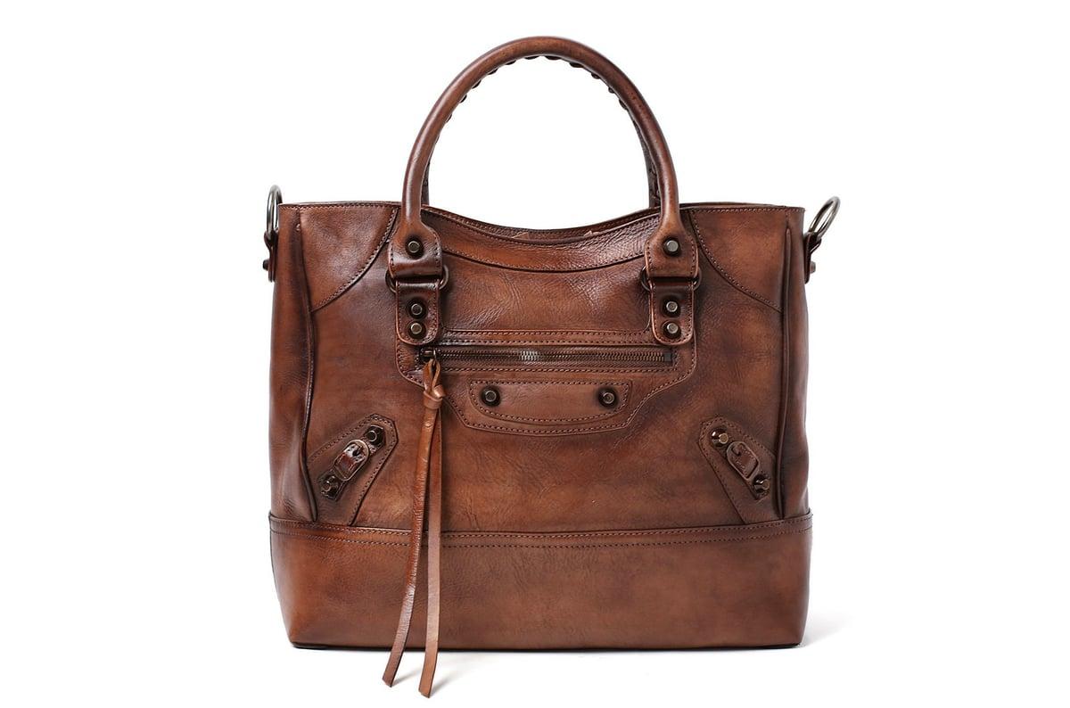 Handmade Full Grain Leather Handbag Designer Handbag
