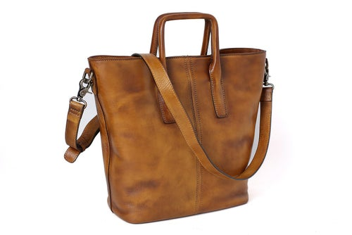 Image of Handmade Full Grain Leather Designer Handbag, Women Handbag, Tote Bag DT258