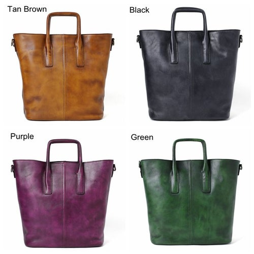 Image of Handmade Full Grain Leather Designer Handbag, Women Handbag, Tote Bag DT258
