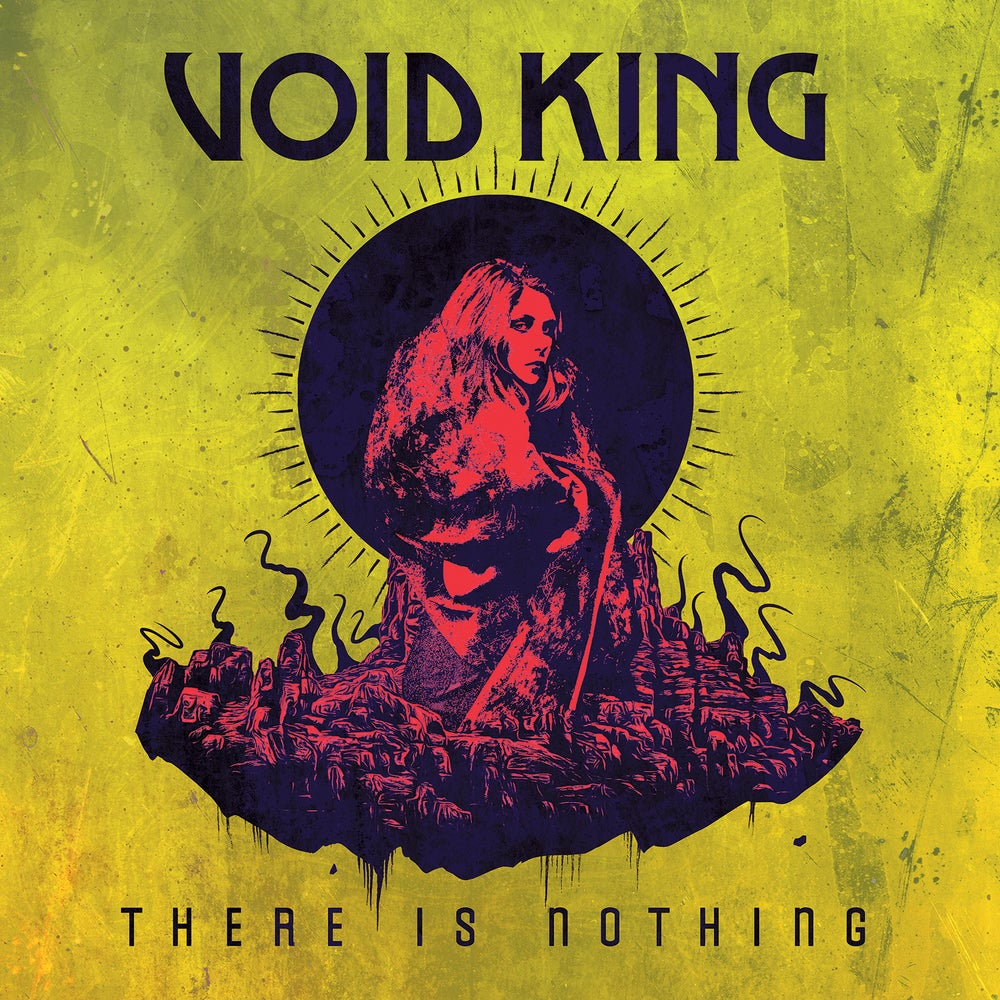 Image of VOID KING - There Is Nothing. LP. Yellow/Black Vinyl.