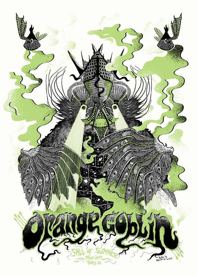 ORANGE GOBLIN (Fall Of Summer 2017) screenprinted poster