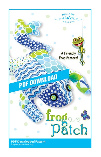 Image of Frog Patch PDF pattern