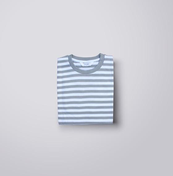 Image of Grey Striped Cherub Tee