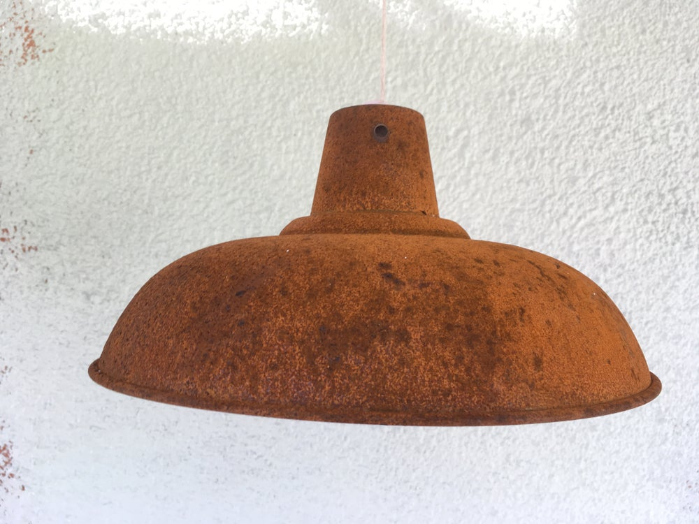 Image of Rusty Metal Industrial Shades - two sizes