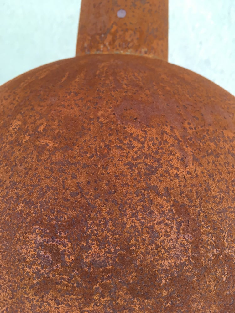 Image of Rusty Metal Industrial Dome Shades - two sizes