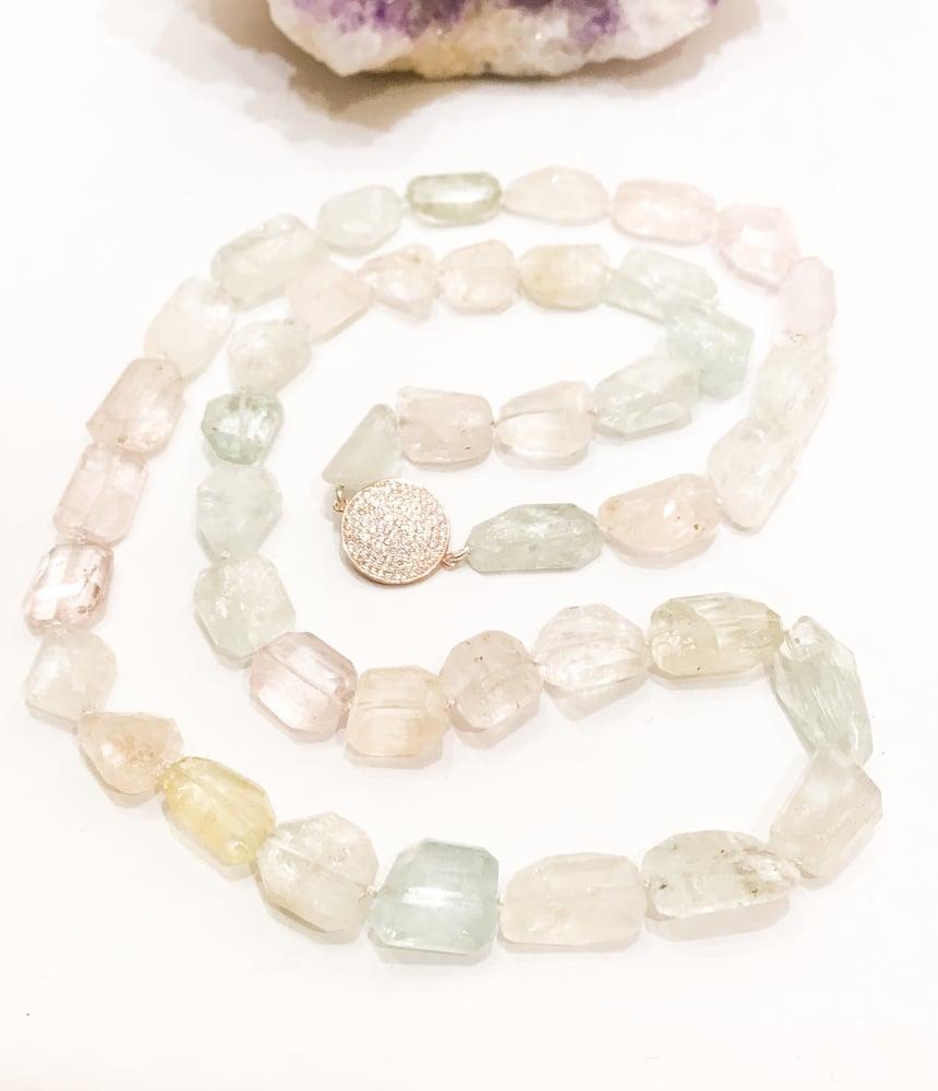 Image of Natural Aquamarine Necklace