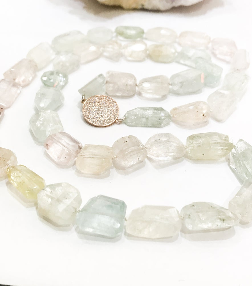 Image of Natural Aquamarine Necklace