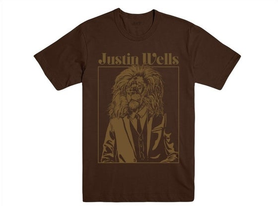 Image of Justin Wells Lion Shirt (Brown)