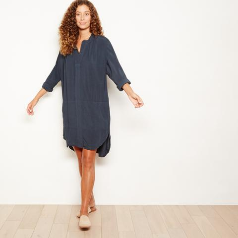 Image of SALE The Odells Hi-Low Dress in Faded Black