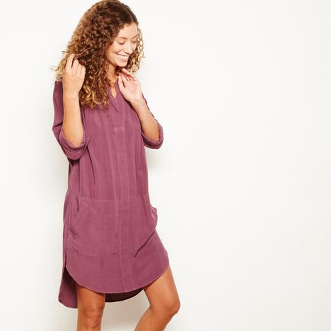 Image of SALE The Odells Hi-Low Dress in Mulberry