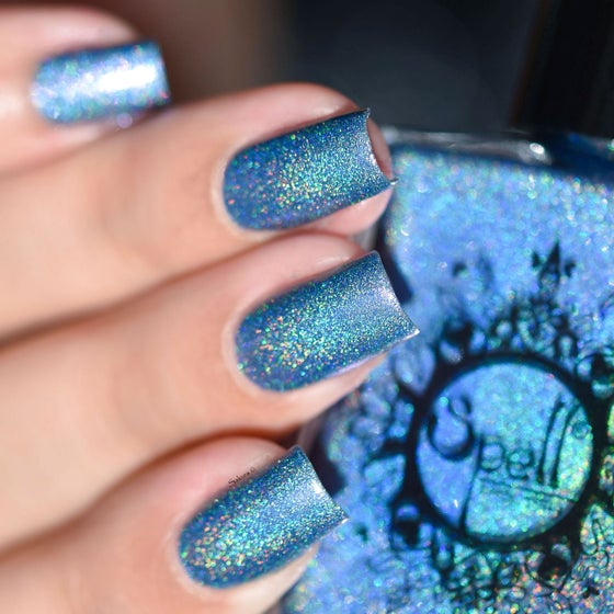 Image of ~Under the Moonlight~ periwinkle-purple/blue duochrome linear holo!