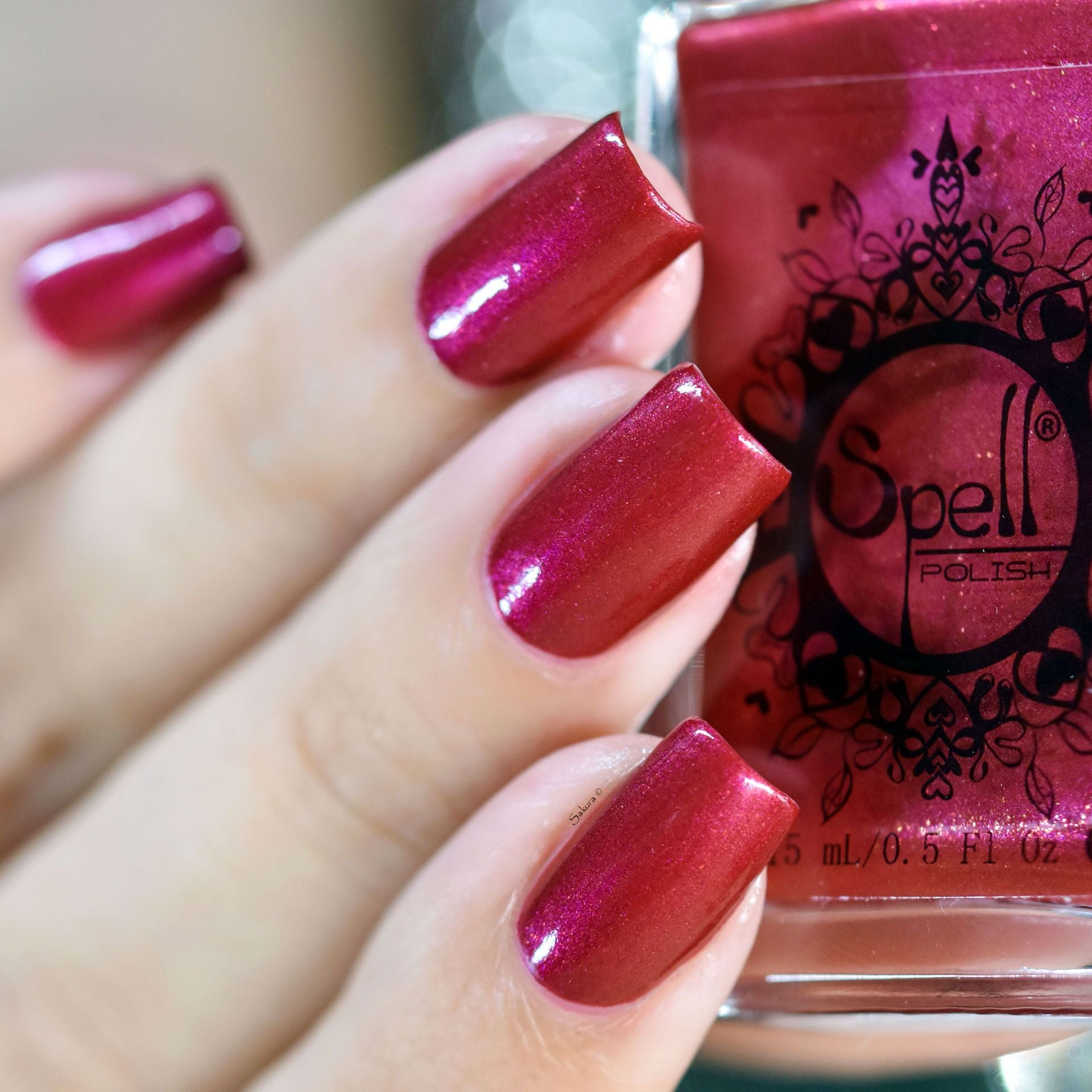 Magical Carriage~ cranberry red w/magenta pink shimmer & copper ...