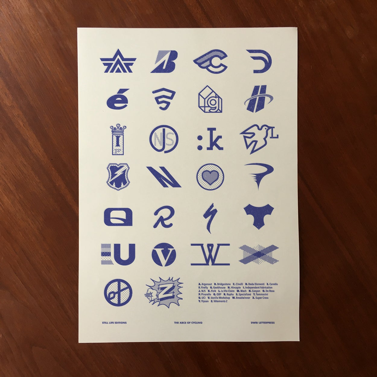 Image of The ABCs of Cycling print