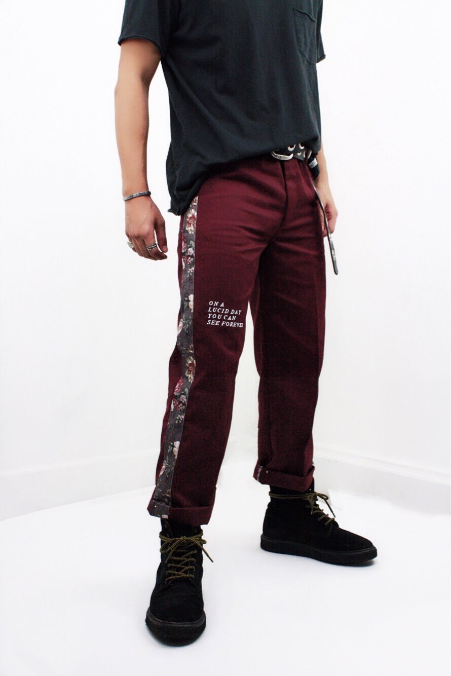 Image of 777 PANTS - REDWINE