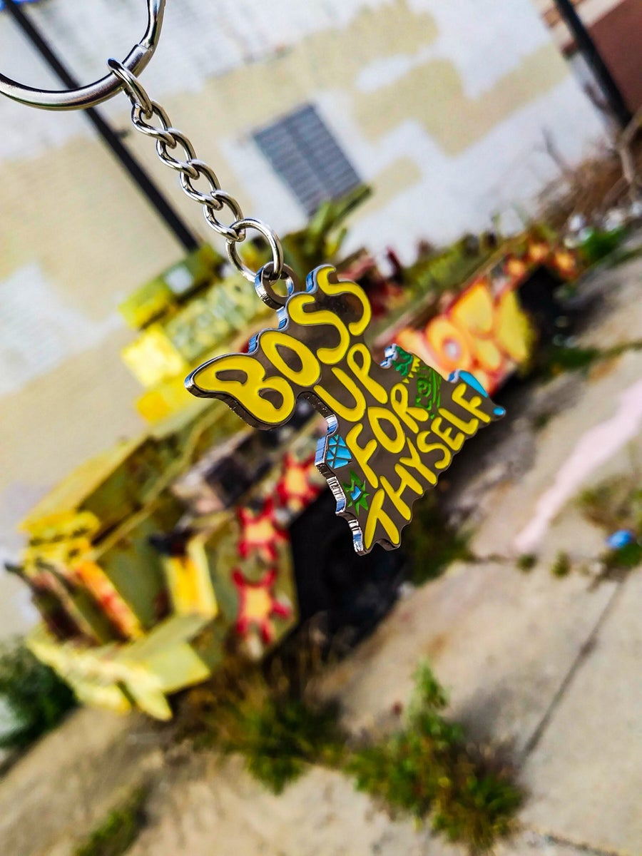 Image of BOSS UP FOR THYSELF KEYCHAIN