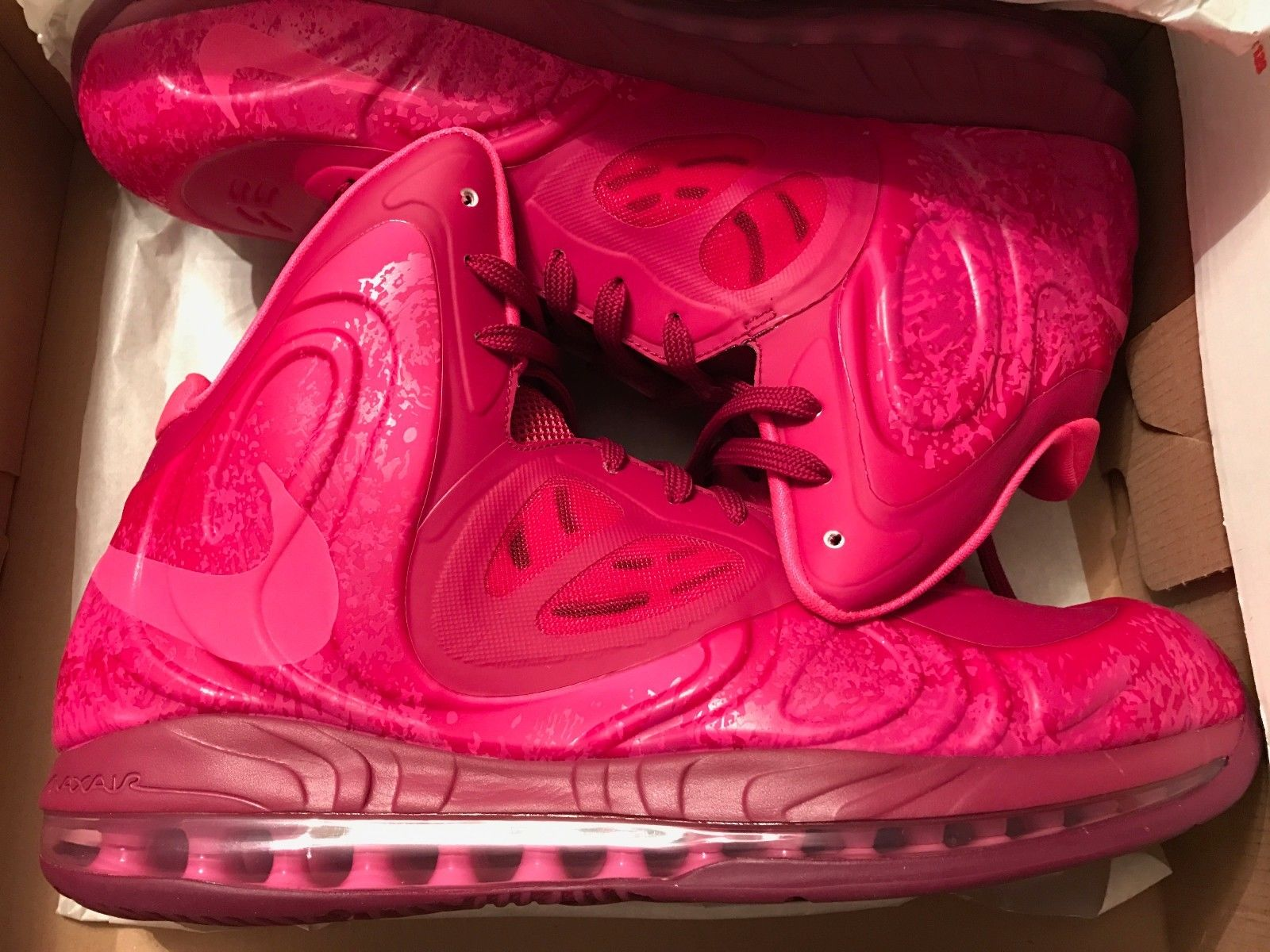 sports shoes c1120 a0adb Image of Nike Air Max Hyperposite Raspberry Red Pink Foil Rave Pink SZ 13 -  NEW