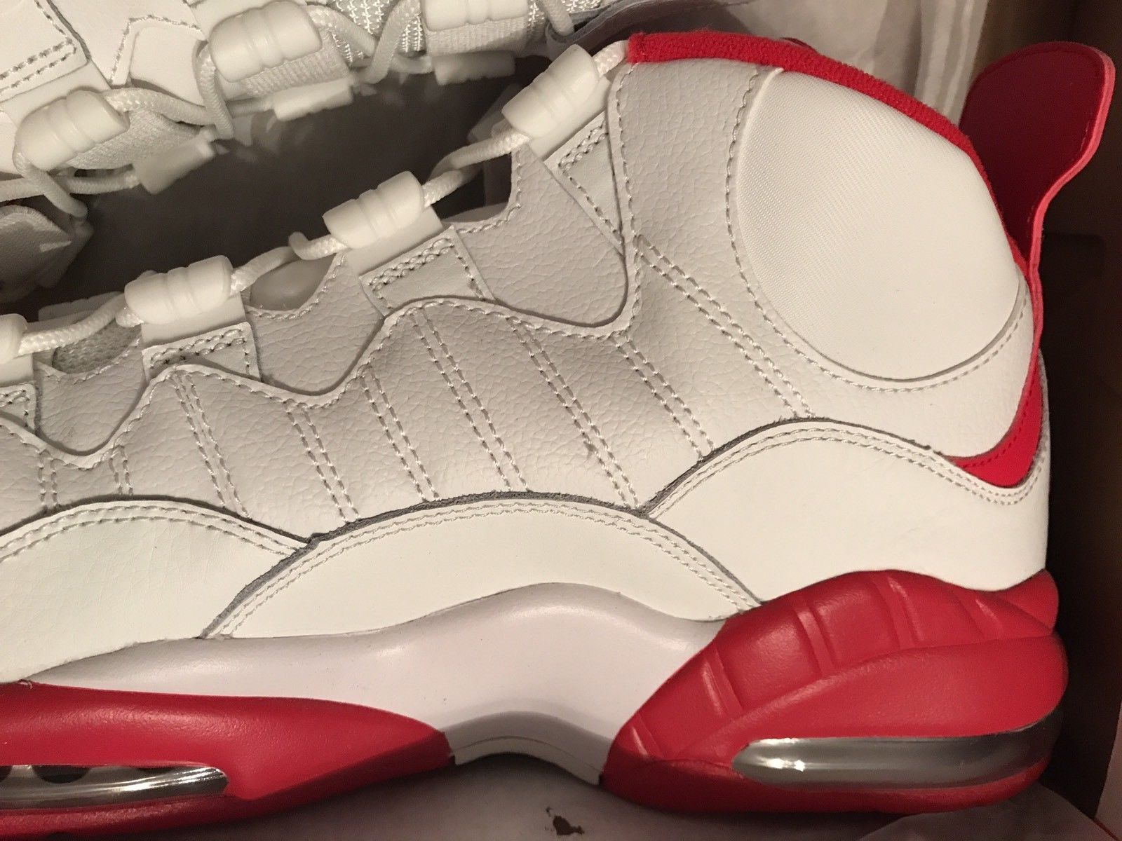 Image of NEW Nike Air Max Sensation Summit White/Red Chris Webber 805897-101 Size 13