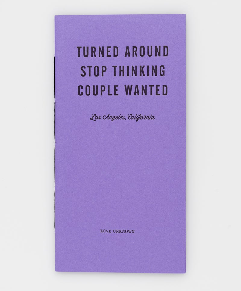 Image of Turned Around, Stop Thinking, Couple Wanted