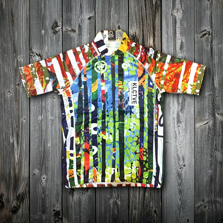 "Image of KLCTVE ""Collage"" cycling jersey"