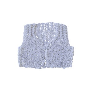Image of Camila Crochet Vest White