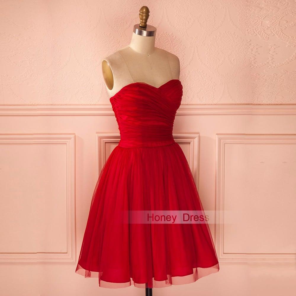21871fc9493d Short Red Cocktail Dresses Sale