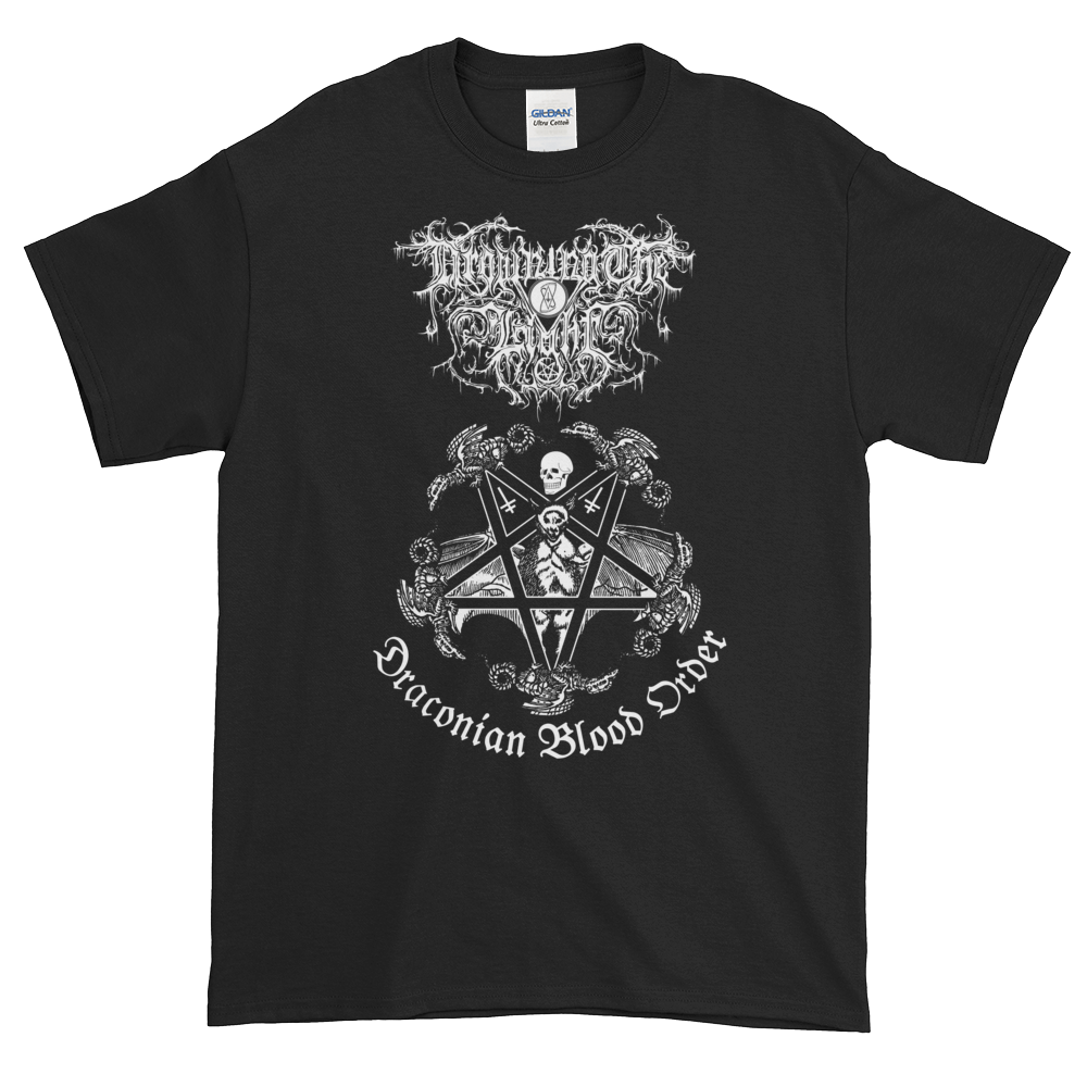 "Image of Drowning the Light - ""Draconian Blood Order"" shirt"
