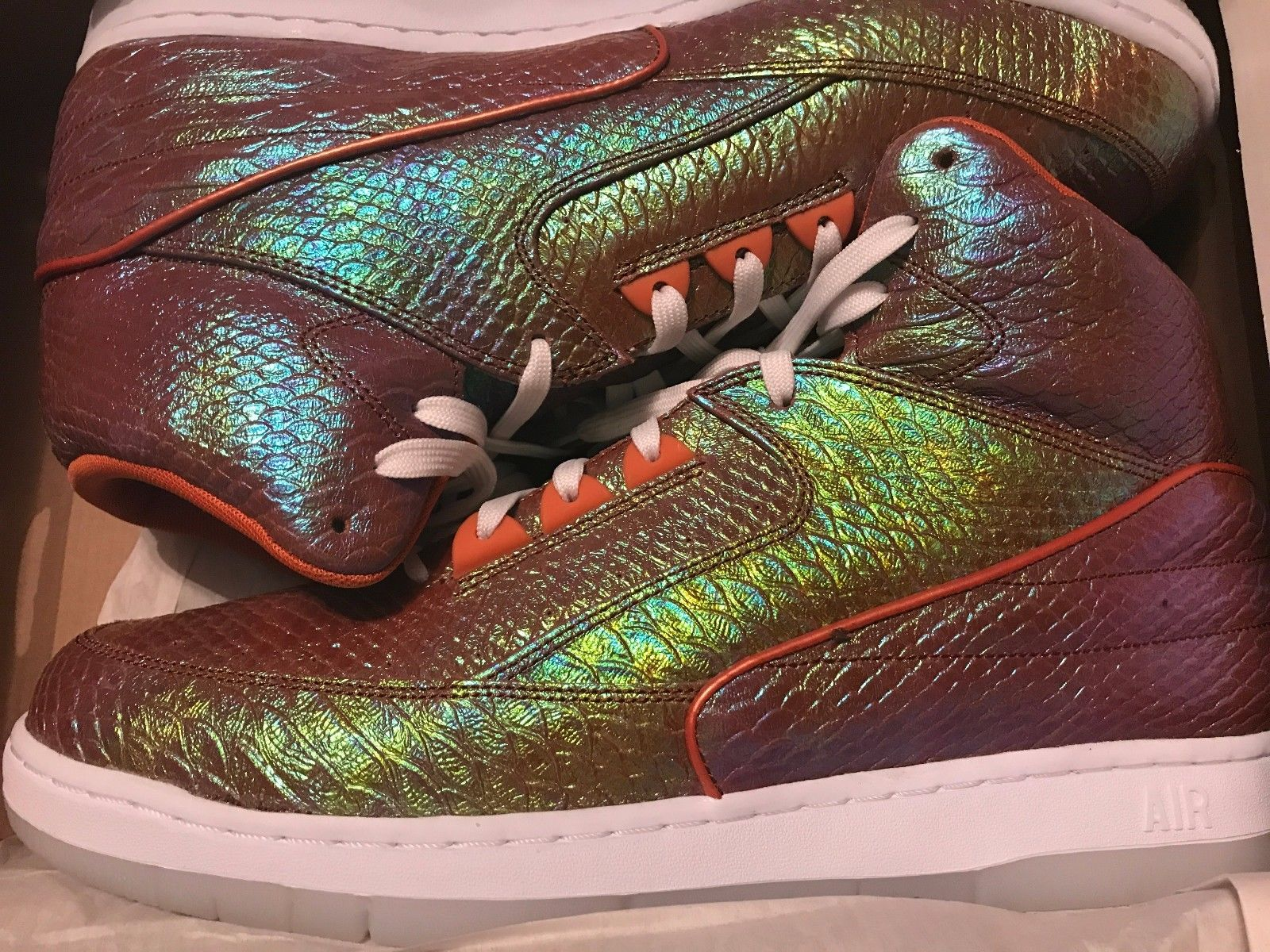 Image of NIKE AIR PYTHON PRM MULTI-COLOR METALLIC MENS SNEAKERS Sz 13 NEW