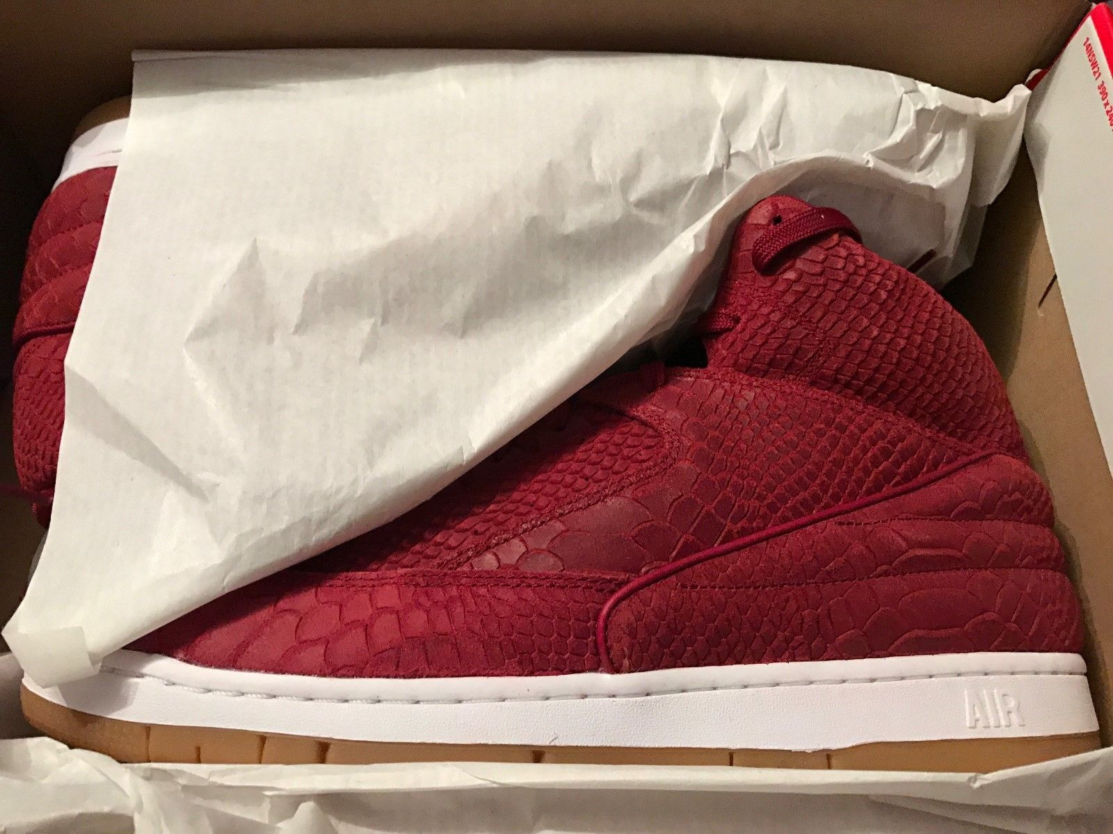 premium selection 9aa1d b479b Image of Nike Air Python Premium Snake Skin Team Red White Gum Size 13
