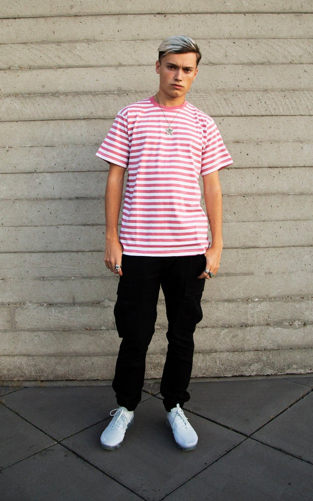 Image of Pink Striped Cherub Tee