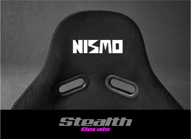 Image of 2x NISMO Flock seat logos, Easy iron-on